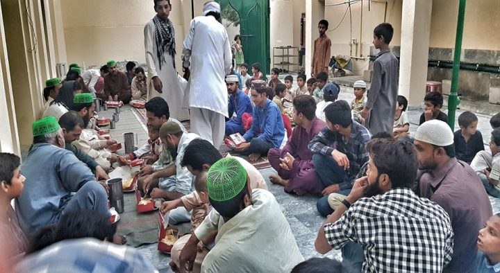 FOOD DISTRIBUTION AT LABOR CAMP 2 , LAHORE , JULY 2019