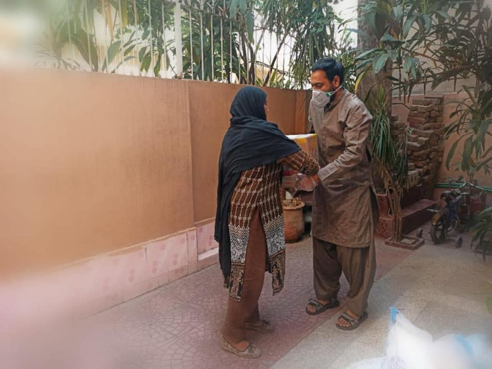 Ration & Cash Distribution Drive in the area of Mughalpura, Lahore, Pakistan